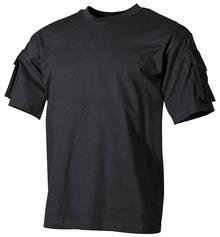 Тениска черна с джоб и велкро / MFH Int. Comp.