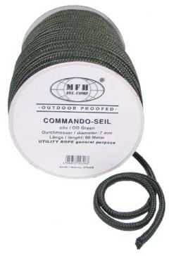 Въже - olive 7mm (0,60лв./м) / MFH Int.Comp.