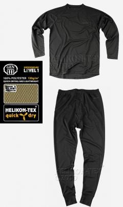 Комплект термо бельо - 2 части черно Level I / Helikon-Tex